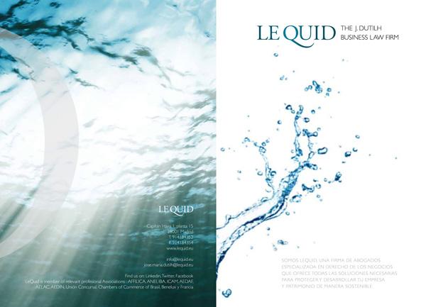 Folleto de presentación de LeQuid