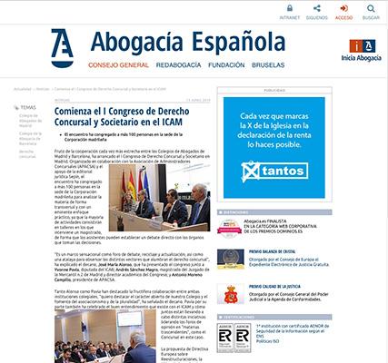 Revista abogacía Española