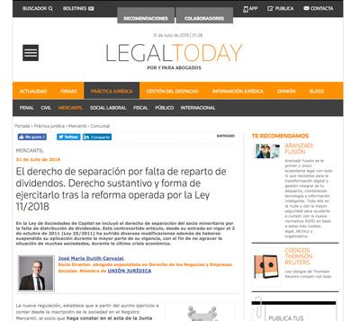 Artículo LeQuid en LegalToday